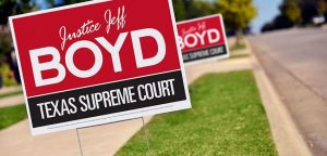 Texas Political Campaign Yard Signs